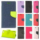 For ZTE Blade Force Premium Leather 2 Tone Wallet Case Pouch Flip Phone Cover