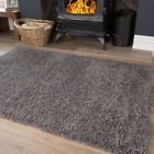 Quality Grey Modern Thick Soft Shaggy Cheap Large Small Living Room Floor Rug