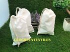 6x10 inches Original thick Cotton Muslin Bags  Nice QUALITY    Choose Quantities
