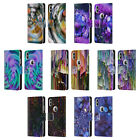 OFFICIAL HAROULITA ABSTRACT GLITCH LEATHER BOOK CASE FOR APPLE iPHONE PHONES