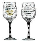 Hoots n Howlers A27115 Sick As A Dog Wine Glass