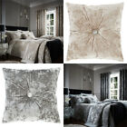 Catherine Lansfield Crushed Velvet Filled Cushion, 45 x 45 Cm