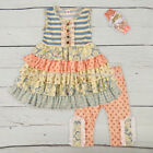 baby boutiques in shreveport la - Baby Toddler Girls Boutique Quality Ruffle Outfit Striped Capri Pants