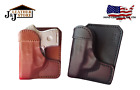 J&J S&W SHIELD 9/40 M2.0 W/ FACTORY CT LASER WALLET STYLE LEATHER POCKET HOLSTER