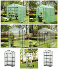 Glitzhome Portable PE Green Houses Mini & Larger Walk-In Outdoor Plant Gardening