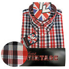 Warrior UK England Button Down Shirt FERDY Slim-Fit Skinhead Mod Retro