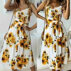US Women Boho Floral Long Maxi Dress Evening Party Beach Dresses Summer Sundress <br/> ❤US STOCK❤Free Shipping❤Return Back❤High Quality