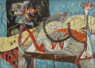 Jackson Pollock Stenographic Figure HD Print on Canvas Wall Picture Multisize