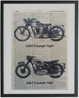 Triumph Motorcycle Print No.435, triumph decals, motorcycle art $15.11 USD on eBay