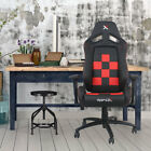 RapidX Finish Line on Back Checkered Flag Pattern Office Chair