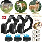 Внешний вид - 3x Anti No Bark Shock Dog Trainer Stop Barking Pet Training Control Collar NEW