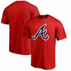 Atlanta Braves Fanatics Branded Primary Logo T-Shirt - Red on Ebay