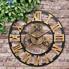 Large Outdoor Garden Wall Clock Big Roman Numerals Giant Open Face 30/58/80cm CO
