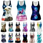 tee 3d - 3D Print Women Summer Vest Sleeveless Shirt Tee Blouse Casual Tank Tops T-Shirt