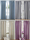 STRIPED TAPE TOP FULLY LINED PAIR OF READY MADE CURTAINS ***CLEARANCE LINE***