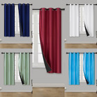"""1 Set Short Silk Window Blackout Insulated  Thermal Lining Curtain Elio 36"""""""