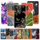 For Alcatel A7 5090Y 5090 Soft TPU Case Cover Butterfly Wooden Linen Contrast