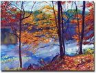 Falling Leaves Canvas Wall Art Autumn Tress Nature Chic Design Hang Display New