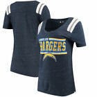 Los Angeles Chargers 5th & Ocean by New Era Women's Wordmark Tri-Blend V-Neck $29.99 USD on eBay