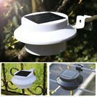 3/9 LED Solar Panel Power Powered Outdoor Garden Light Gutter Fence Wall Bracket