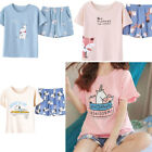 pictures of shorts for ladies - Womens Character Short Pjs Pyjamas 2 Piece Set Top Shorts Loungewear Ladies Size