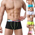 New Men's Cotton Breathable Boxer Briefs Sexy U-Shaped Underwear Solid Shorts 41