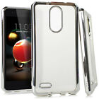 For LG Aristo 2 Chrome TPU Gel Protector Hard Skin Case Phone Cover Accessory