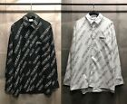 Oversize Mens Overall VTM Print Long Sleeve Casual Shirts White Street Vetements