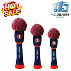 Pom Pom Golf Headcover Driver Fairway Hybrid Wood Club Head Cover Fit Finger Ten