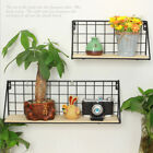 Wire Wall Hanging Window Box Flower Pot Rack Plant Pot Planter Black Support