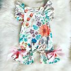 US Newborn Baby Girls Romper Summer Ruffle Bodysuit Jumpsuit Clothes Outfit Set