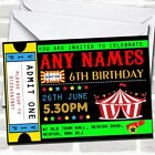 Circus Carnival Ticket Children's Birthday Party Invitations