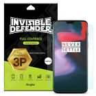 OnePlus 6 Screen Protector, Invisible Defender [Full Coverage] [3-Pack] Film