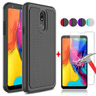 For LG Stylo 4/4 Plus Shockproof Slim Phone Case+Tempered Glass Screen Protector
