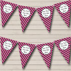 Pink Camouflage Army Soldier Personalized Birthday Party Bunting Flag Banner
