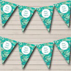 Blue Green Camouflage Personalized Children's Birthday Party Bunting Flag Banner