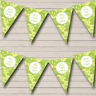 Light Green Camouflage Personalized Birthday Party Bunting Flag Banner