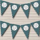 Blue Camouflage Army Soldier Children's Birthday Party Bunting Flag Banner