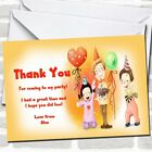 Orange Balloons And Cake Children's Party Thank You Cards