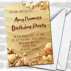 Sandy Beach & Shells Children's Party Invitations