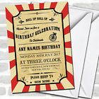 Carnival Circus Vintage Children's Birthday Party Invitations