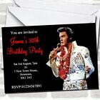 Elvis Presley Red Party Invitations