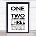New Rules Song Lyric Quote Print