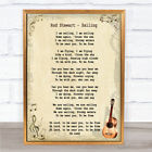 Sailing Song Lyric Vintage Quote Print