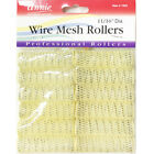 ANNIE WIRE MESH ROLLERS 1022 12 COUNT YELLOW SMALL 11/16""