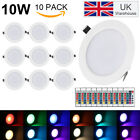 LED Panel Light 5W RGB Recessed Round Ceiling Downlight Remote Control AC85-265V