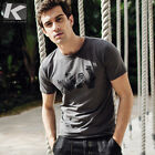 Brand New Men's Summer Short Sleeve Cotton Casual Comfortable Gray T-Shirts