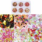 6 Bottles/Set Nail Sequins Mixed Color Glitter Sequins Lovely Shape Nail Art