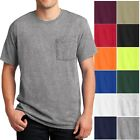 Mens T-Shirt with Pocket Jerzees 50/50 Cotton/Poly Tee Size S, M, L, XL NEW image