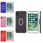 For Apple iPhone X TPU Skin Case Cover with Ring stand